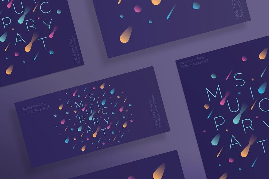 Music Party Flyer and Poster Template