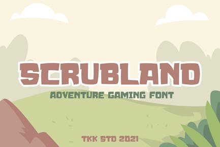 SCRUBLAND - Adventure Gaming Font