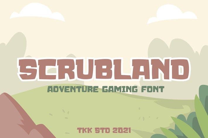 SCRUBLAND - Police de jeu Adventure