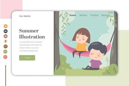 Summer - Landing Page Template