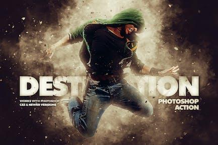 Acción de Photoshop Destrucción - Efecto Explosión