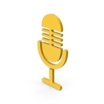 Symbol Microphone Yellow