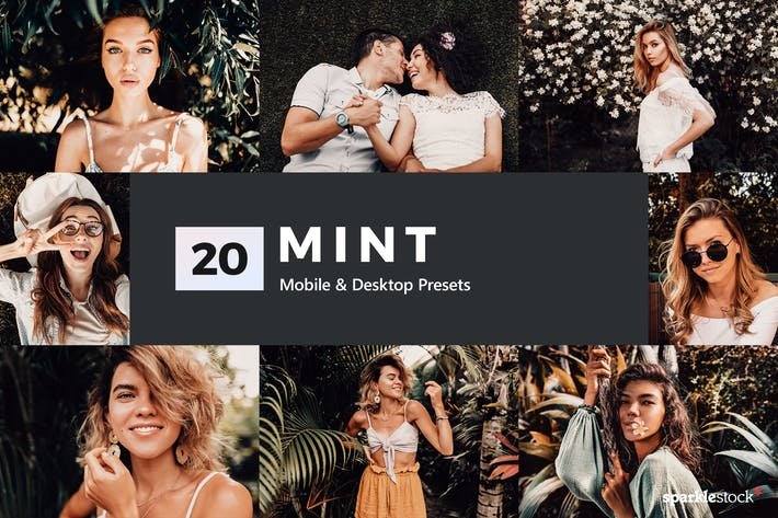 Thumbnail for 20 Mint Lightroom Presets and LUTs