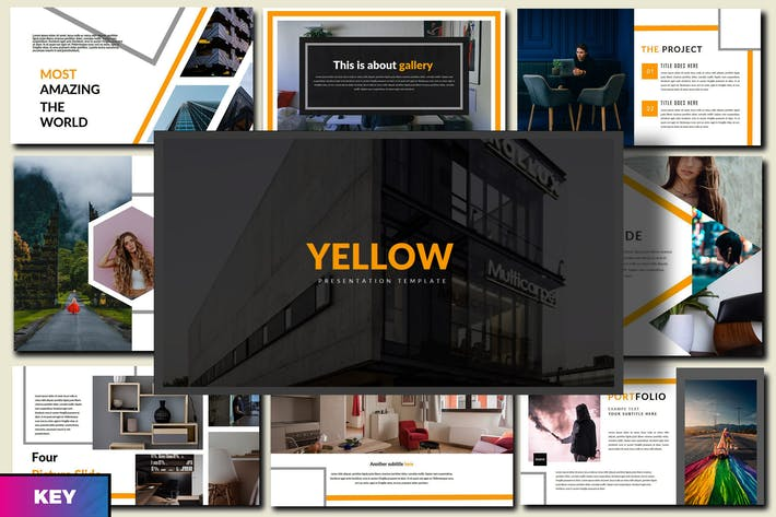 Thumbnail for Yellow - Innovative Keynote Template