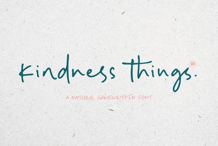 Kindness Things - A Casual Handwritten Font