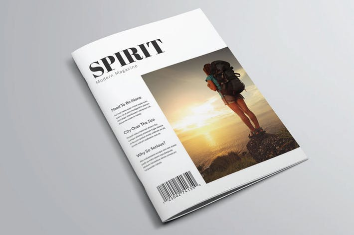 Thumbnail for Spirit Magazine Templete