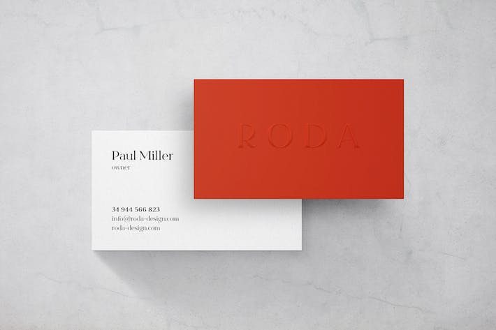 Thumbnail for Marble Business Card Mockup