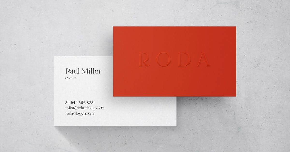 Download Marble Business Card Mockup by pixelbuddha_graphic