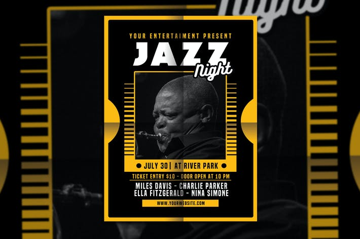Thumbnail for Jazz Night Flyer Poster