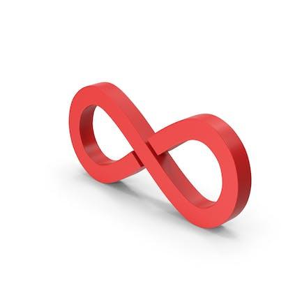 Symbol Infinity Red