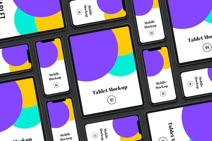 Thumbnail for Tablet mit mobiler Präsentation Mockup