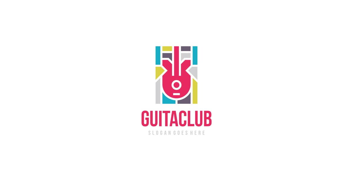 Download Colorful Guitar Logo by 3ab2ou