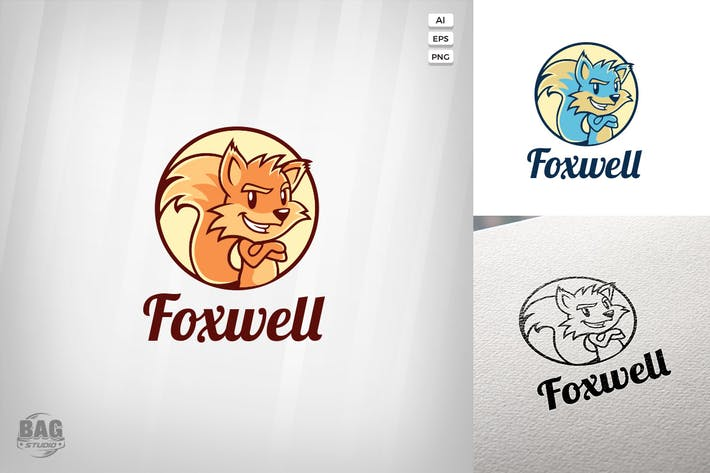 Thumbnail for Fox Vector Logo Template