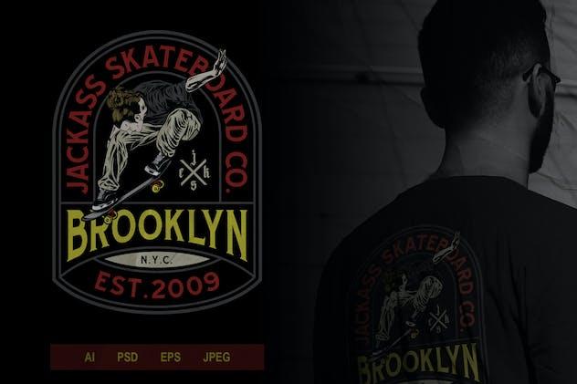 Skateboard Badge Logo Volume 1 No.1