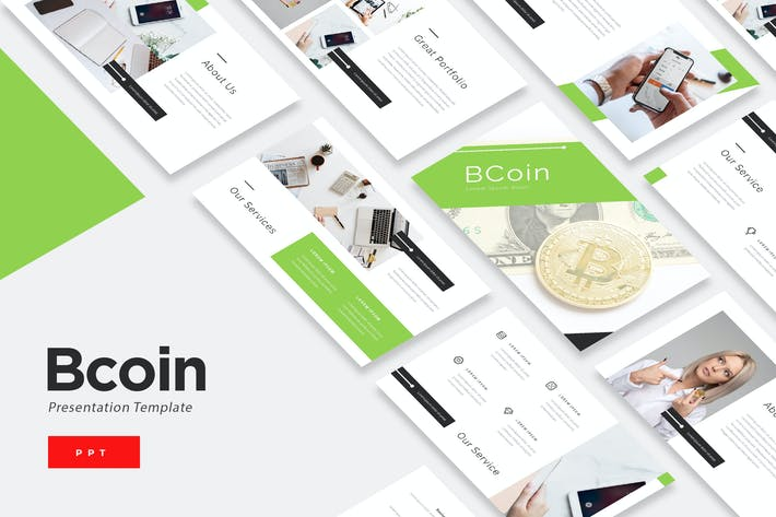 Thumbnail for BCoin - Blockchain Powerpoint Template