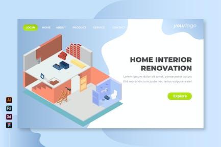 Home Interior Renovation - Isometric Landing Page