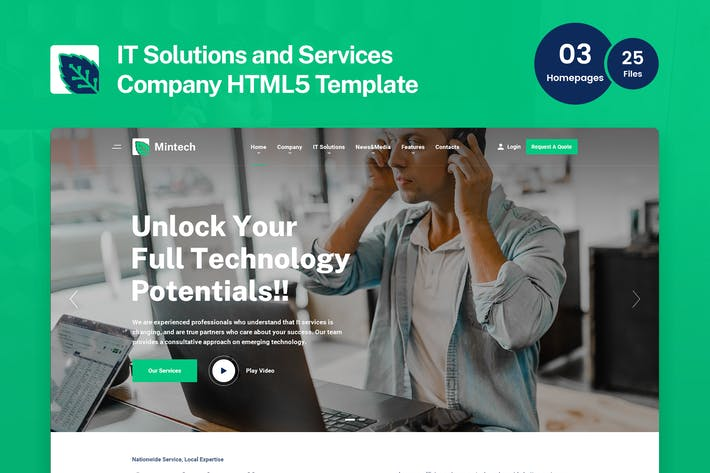 Thumbnail for Mintech - IT Solutions & Services HTML5 Template