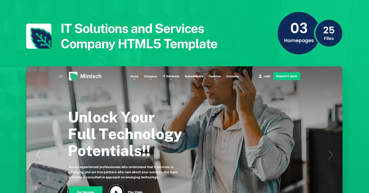 Download Mintech - IT Solutions & Services HTML5 Template by 7oroof