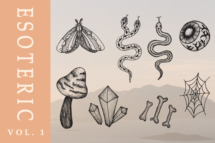 Esoteric hand drawn illustration vol. 1