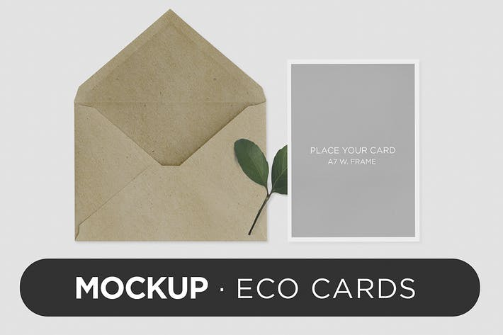 Thumbnail for Invitation Greeting Card Eco Mock-Up