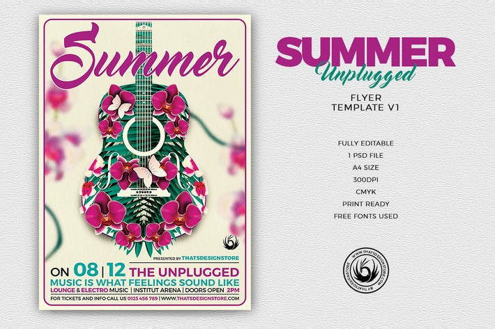 Thumbnail for Summer Unplugged Flyer Template V1