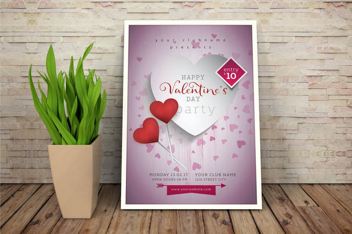 Thumbnail for Valentines Day Flyer #01