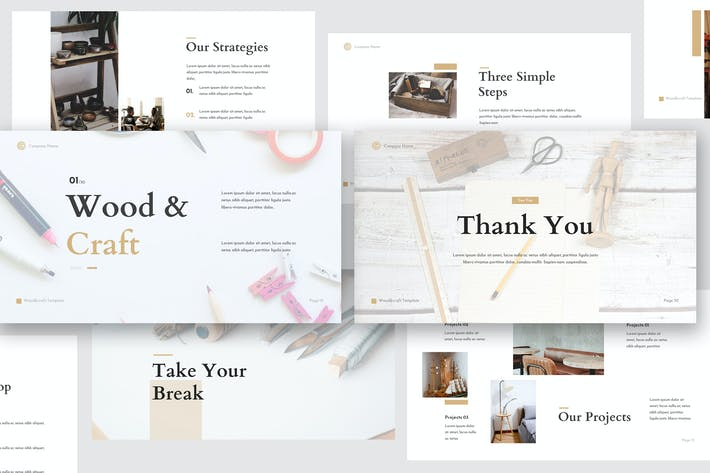 Thumbnail for Wood & Craft Keynote Template