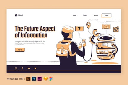 Technologieinformationen - Web Illustration