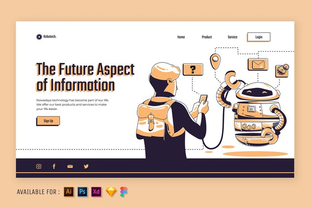 Technology Information  - Web Illustration