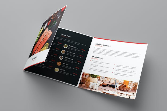 Thumbnail for Brochure – Restaurant Tri-Fold Square