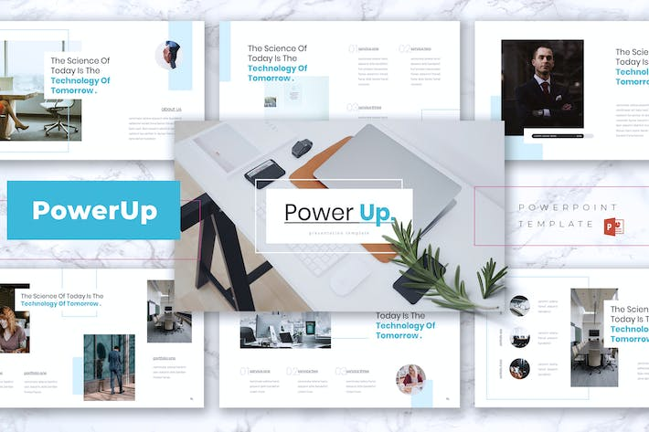 Thumbnail for POWERUP- Company Profile Powerpoint Template