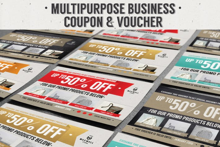 Thumbnail for Multipurpose Business Coupon Voucher