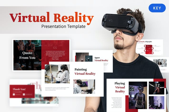 Thumbnail for Virtual Reality - Gaming Keynote Template