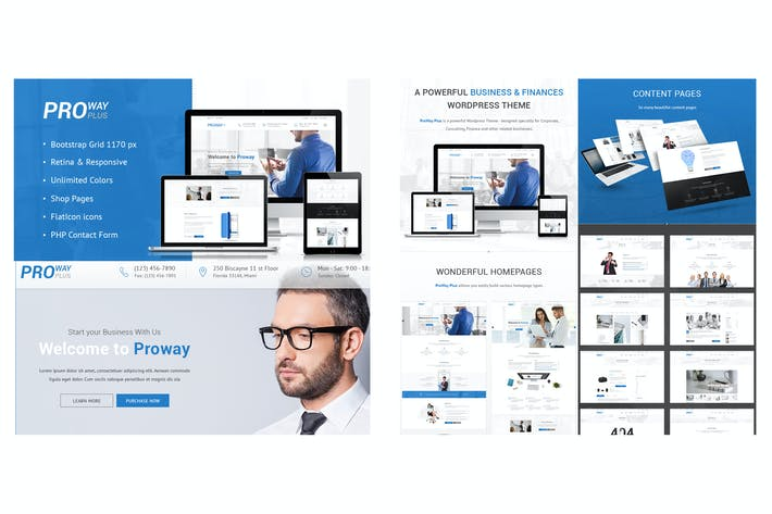 Thumbnail for Proway Plus PSD Template