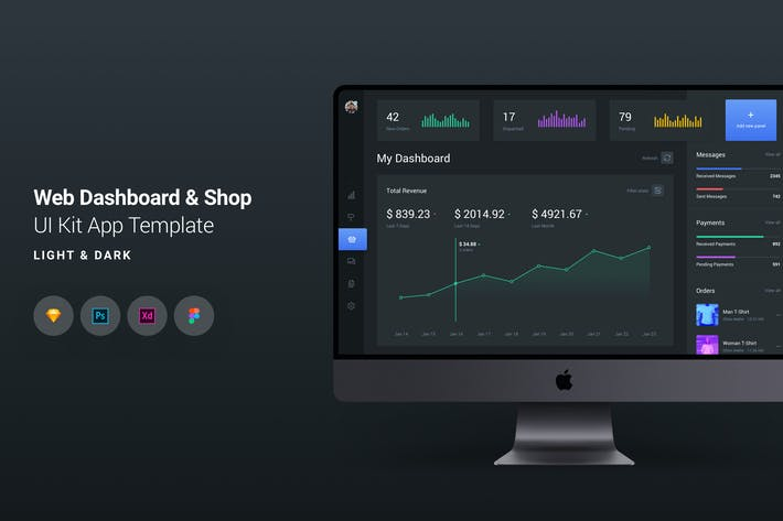 Cover Image For Web Dashboard & E-Commerce UI Kit App Template 3
