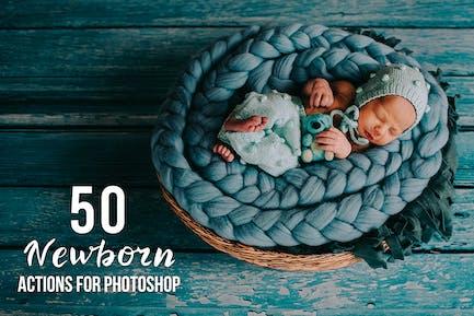 50 Newborn Photoshop Actions