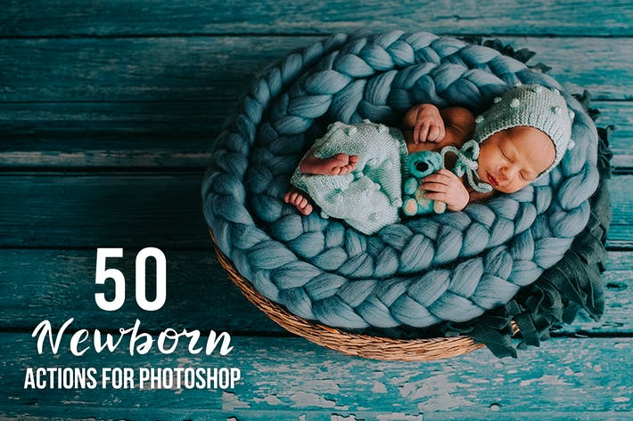 Thumbnail for 50 Newborn Photoshop Actions