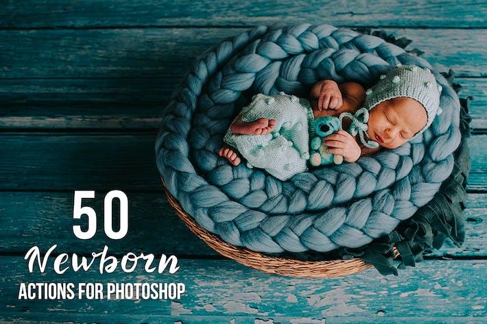 Thumbnail for 50 действий для новорожденных в Photoshop