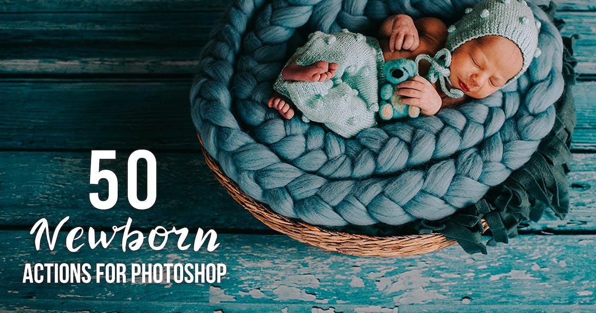 Download 50 Newborn Photoshop Actions by Eldamar_Studio