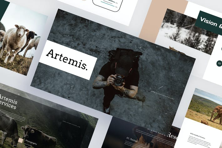 Artemis - Животные фотографии Keynote Шаблон