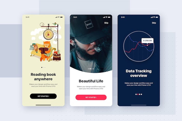 Thumbnail for Onboarding Mobile app template