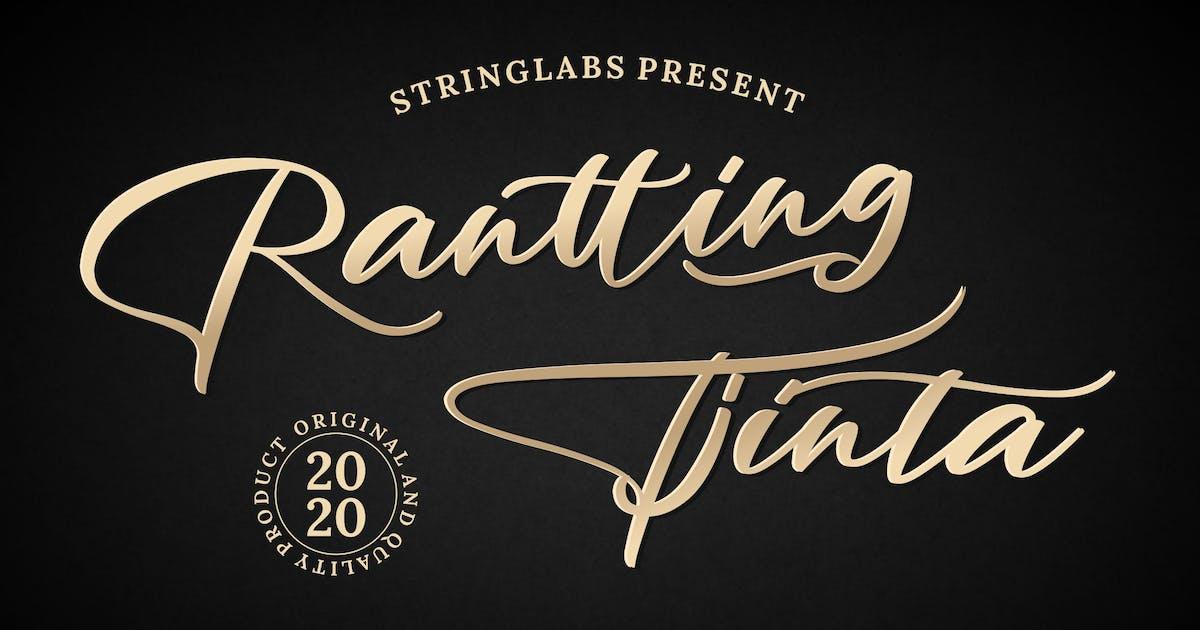 Download Rantting Tjinta - Stylish Script Font by StringLabs