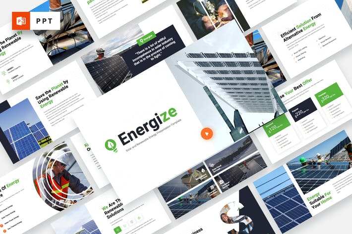 Thumbnail for ENERGIZE - Solar Energy Powerpoint Template