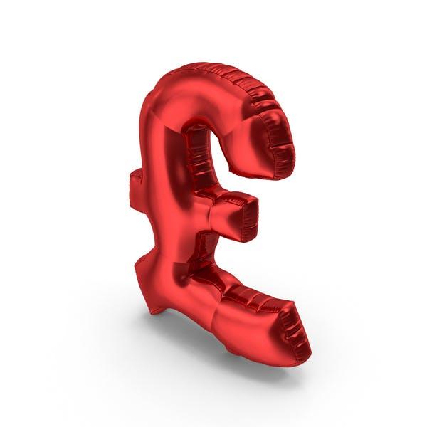 Foil Balloon Pound Red