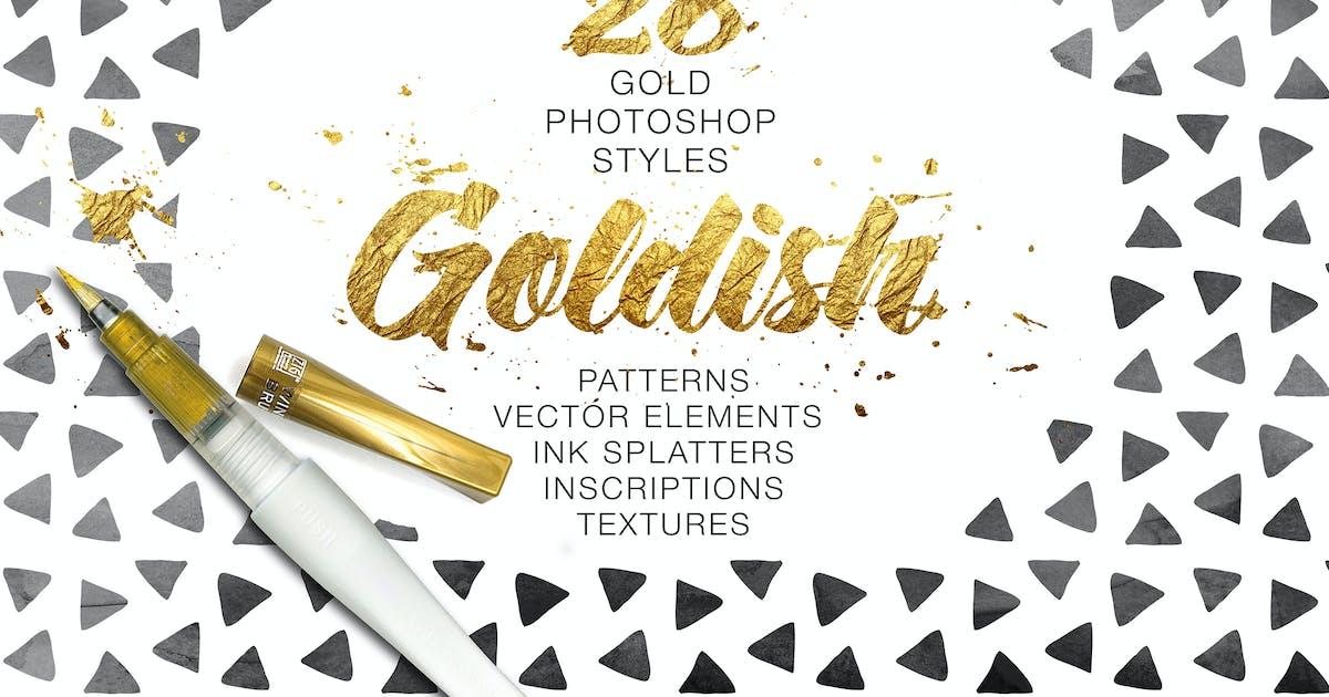 Download Goldish Kit. For Photoshop+Extras by ZelenskyRuslan