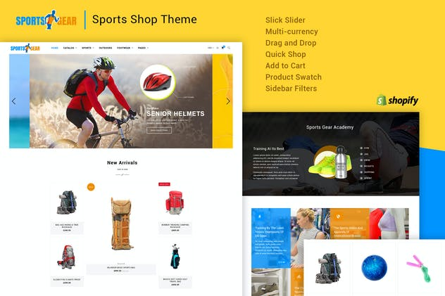 Sports Gear - Sports Shop Shopify Theme