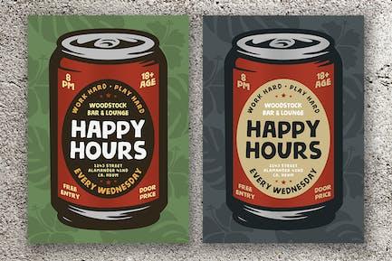 Happy Hours Flyers