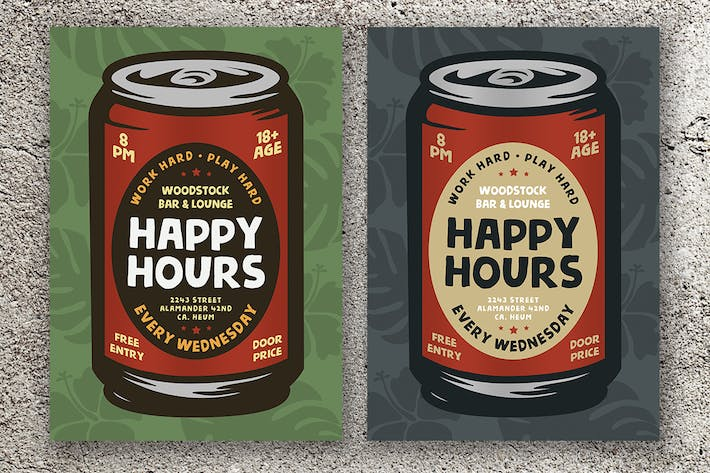 Thumbnail for Happy Hours Flyers