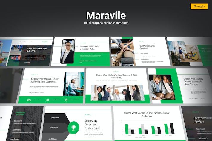 Thumbnail for Maravile - Multipurpose Business Google Slides