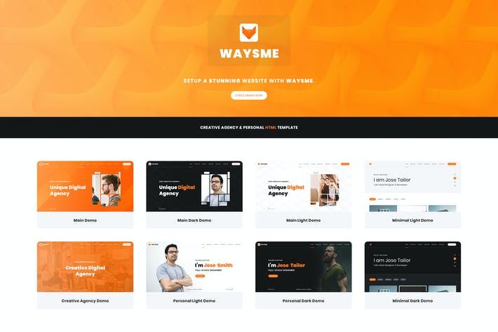 Thumbnail for Waysme - Creative Agency & Personal HTML Template